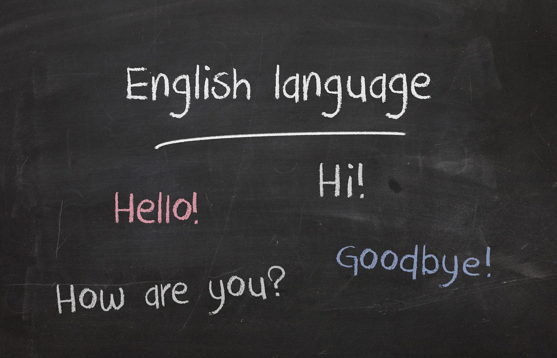 英語を話す